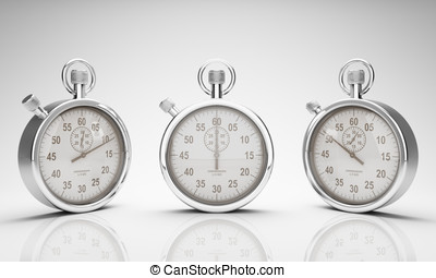 Stop Watch with Clipping Path for Dials and Watch and Ground...