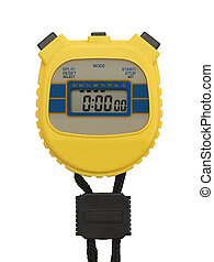 Stop Watch - Yellow Plastic Stopwatch with Copyspace ...