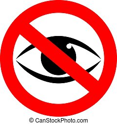 Stop watching vector sign