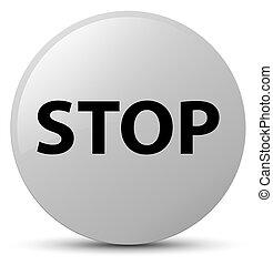 Stop white round button