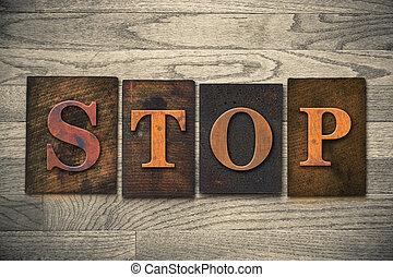 Stop Wooden Letterpress Theme