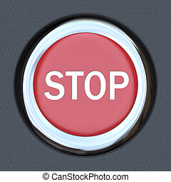 Stop Word Red Car Push Button Starter