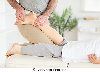 stopa, masażysta, masowanie, babski