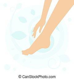 stopa, ręka