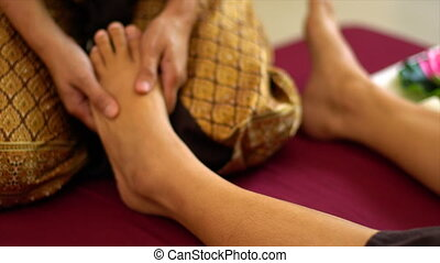 stopa, thai, masaż