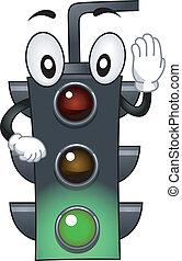Stoplight Mascot - Mascot Illustration Featuring a Stop ...