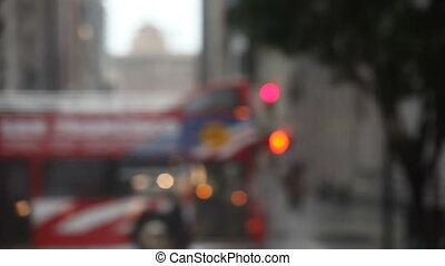 stoplight, rain, San Francisco