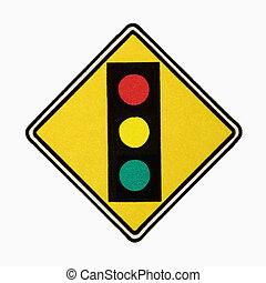 Stoplight sign.