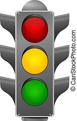 stoplight., vecteur