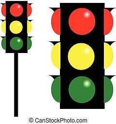 stoplight, vektor, abbildung