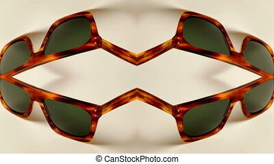 stopmotion of a collection of different amazing retro sunglasses