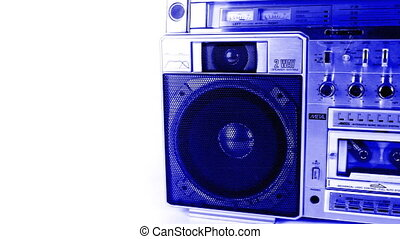 stopmotion of a fantastic looking retro ghetto blaster...