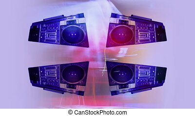 stopmotion of a fantastic looking retro ghetto blaster