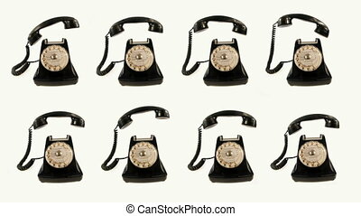 stopmotion of an old style telephone ringing