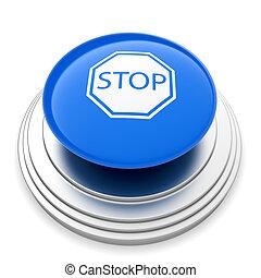 stopp, ikon, knapp