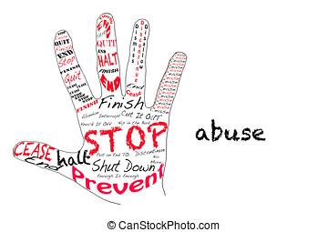 stopp, missbruk