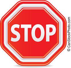 stoppe underskriv