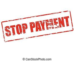 stoppen, betaling