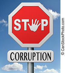 stoppen, corruptie