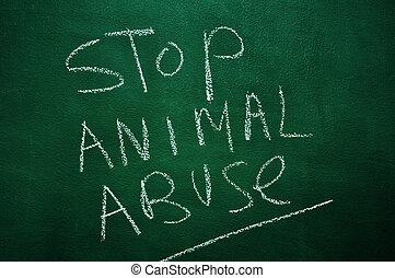 stoppen, dier misbruik