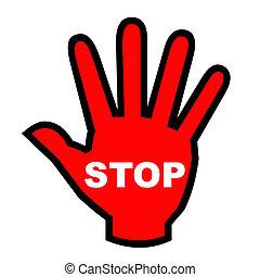 stoppen, hand