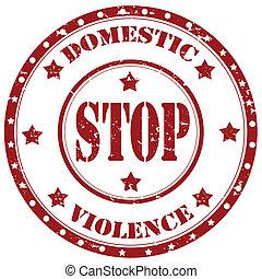 stoppen, huiselijk, violence-stamp