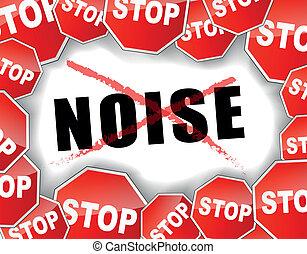 stoppen, lawaai