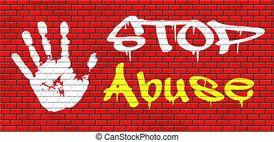 stoppen, misbruiken