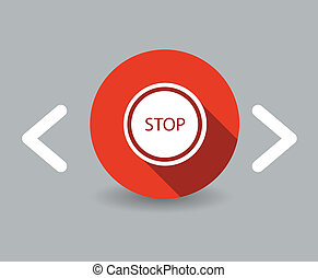 stoppen, pictogram