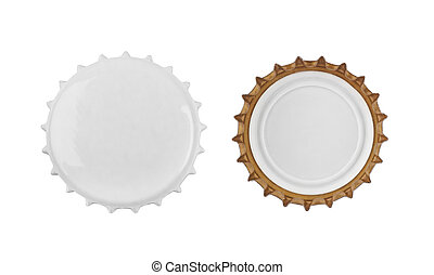 Stopper from a bottle beer isolated on a white background