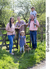 Stopping to Take a Family Photo - Family posing for the ...