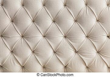 stoppning, soffa, lätt, fond mönstra, vit, struktur
