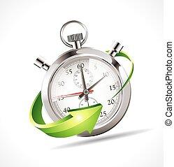 stopwatch, -, 速度, 向上, 時間