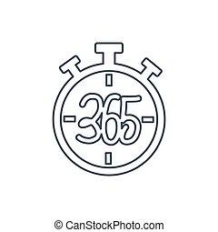 stopwatch 365 infinity logo icon design illustration outline