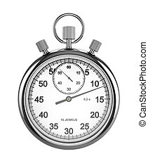 Stopwatch - 3d render of stopwatch isolated on white...