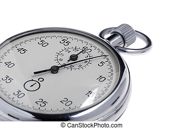 stopwatch. Analog watch that can be immediately stopped and ...