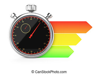 stopwatch and chart