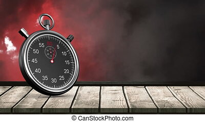 Stopwatch and clouds - Digitally generated animation of ...