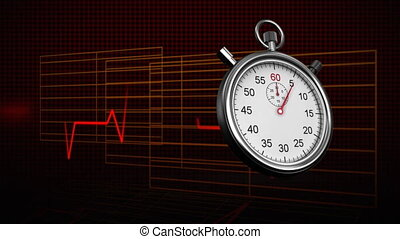 Stopwatch and heart rate