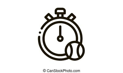 Stopwatch Ball Icon Animation