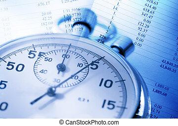 stopwatch, begroting, getallen