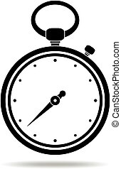 Stopwatch black icon