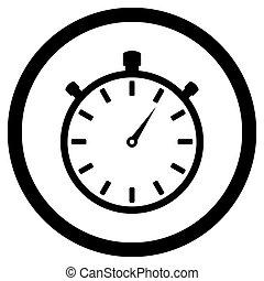 Stopwatch black white icon