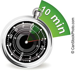 stopwatch, bladwijzer, vector, illustratie