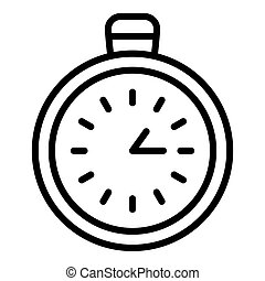 Stopwatch chronometer icon, outline style
