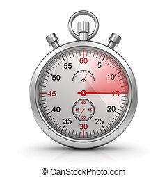 Stopwatch , computer generated image. 3d render.