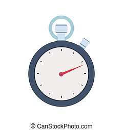 Stopwatch concept icon vector flat illustration design. Isolated on white background
