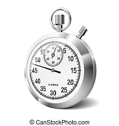 Stopwatch - Vector illustration of a stop watch