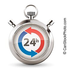 Stopwatch - fast delivery - twenty-four hours service...