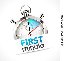 Stopwatch - first minute - promo time concept